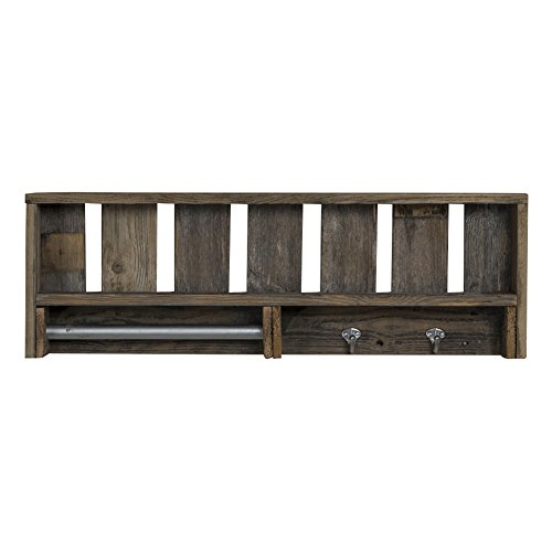 41siE88OBJL - del Hutson Designs Reclaimed Wood Versatile Bathroom Shelf
