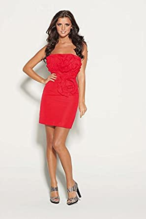 Drama Queen Corsage Bustier Dress Red Uk Size 12 Eu 40 Us 8 Prom Party Club Bnwt Rrp £75: Amazon.co.uk: Clothing