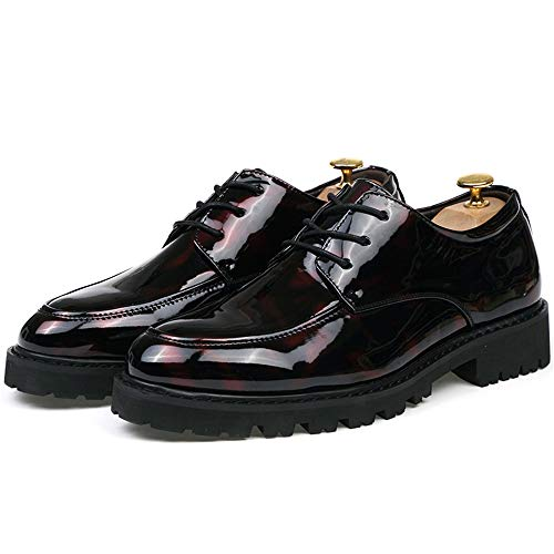 Black Formales Chic Oxford Casual Oxford Oxford Zapatos Black EU Antideslizantes Formal tamaño Transpirables Red Jusheng Color Zapatos para y Blue 41 Hombre xXqvRAw