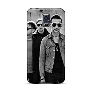 Great Hard Phone Case For Samsung Galaxy S5 (VXL24514eLuE) Customized Attractive Depeche Mode Band Pictures