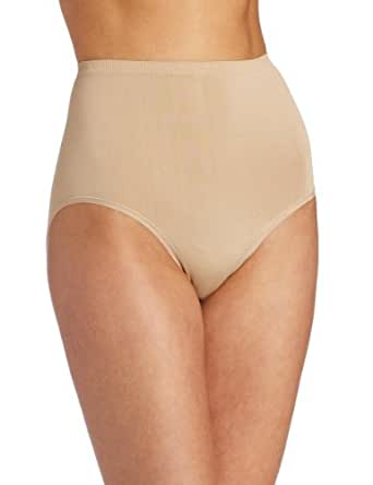 Vanity Fair Women's Seamless Brief Panty 13210, Damask Neutral, 6