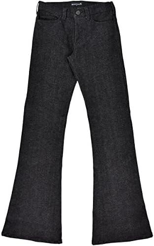 ベルボトム フレア ブーツカット デニム ジーパン ストレッチ ボトムス パンツ メンズ ブラック黒 162252