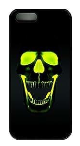iPhone 5 5S Case Green Skull HD PC Custom iPhone 5 5S Case Cover Black