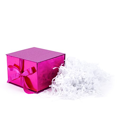 Hallmark Signature Large Gift Box for Birthdays, Bridal Showers, Weddings, Baby Showers and More (Hot Pink Glitter)