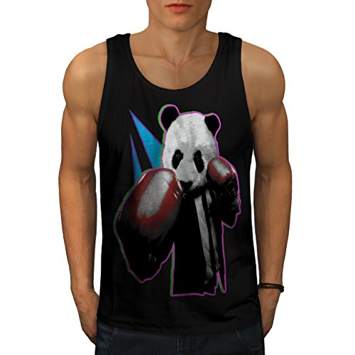 [Panda Box Animal Random Fun Men NEW S Tank Top | Wellcoda] (Bear Jew Costume)
