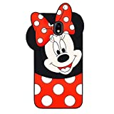 BatKing Lovely Mouse Case for Galaxy J7 V 2nd Gen/J7 Star/J7 Aero/J7 Top/J7 Crown/J7 Aura/J7 Refine,3D Cartoon Animal Cute Soft Silicone Cover,Animated Cool Cases for Kids Teens Girls