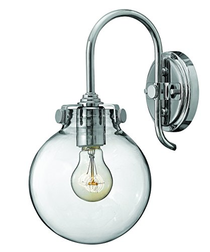 (Hinkley 3174CM Restoration One Light Wall Sconce from Congress collection in Chrome, Pol. Nckl.finish,)