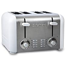 CUISINART CPT-340WC 4-Slice Toaster, White and Silver
