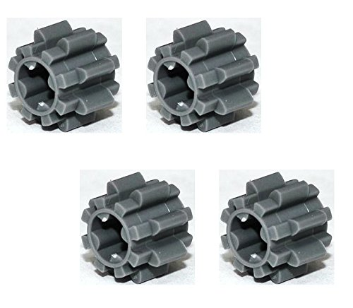 Lego Parts: Technic, Gear 8 Tooth Type 2 (PACK of 4 - DBGray)