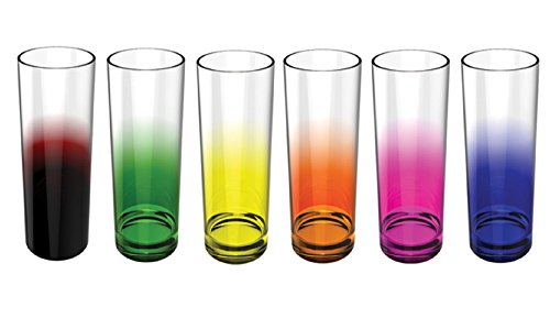 Stallion Barware Highball Glasses Rainbow - Set of 6 - Unbreakable (Polycarbonate) - 330 ml - by Stallion, The Unbreakable Homeware Company by Stallion Barware