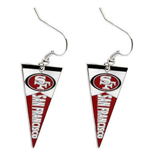 (NFL San Francisco 49ers Pennant Earrings)