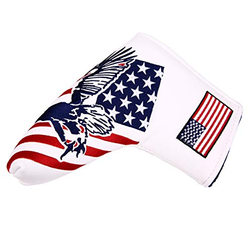 USA Eagle Magnetic Golf Putter Head Cover Blade Putter Covers for Scotty Cameron Taylormade Odyssey Golf Builder