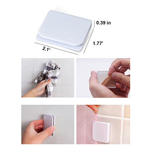 Windproof Stop Protect Clips , Shower Splash Guard Curtain Clip , Self  Adhesive Shower Curtain Clips