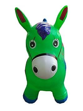 Verde caballo hinchable para niños, L & H de muñeca hinchable ...