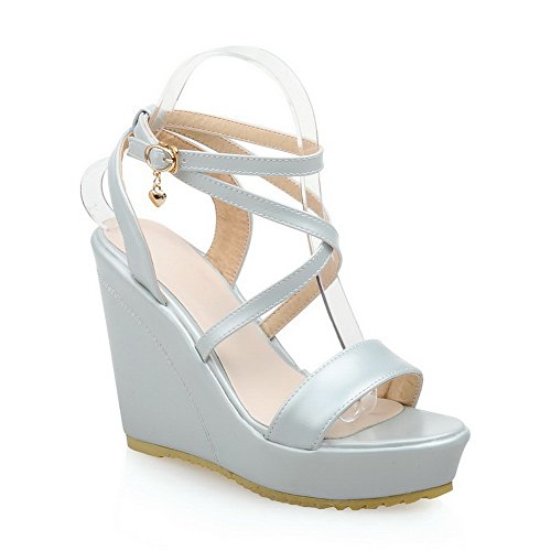 Soft Sandals 1TO9 Open LightBlue Material Toe Girls Metalornament qqYI7B