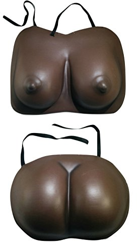 Brown Big Eva Foam Fake Butt and Boobs Bum Buns Breasts Costume Buttocks Set