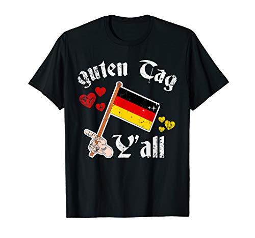 Oktoberfest Outfit guten Tag y'all Men Women German Heart T-Shirt