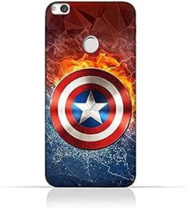 Huawei Nova Lite TPU Silicone Protective Case with Shield of Captain America Design