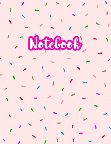 Notebook: Cute Blank Lined Journal Large 8.5 x 11 Matte Cover Design with Ruled White Paper Interior (Perfect for School Notes, Girls and Boys Diary, ... Subject, Office Use) - Product Code A4 169