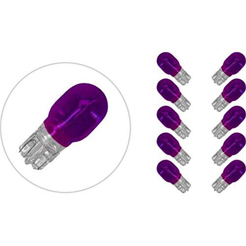 LAMPADA LAMPADINA FRECCE 12V 10W TUTTOVETRO 10PZ T13 VETRO VIOLA MOTO SCOOTER ONE