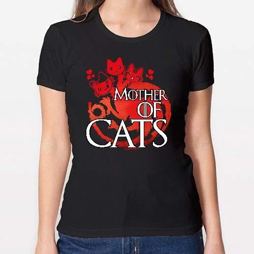 Positivos Camisetas Mujer/Chica - diseño Original Madre de Gatos - S: Amazon.es: Hogar