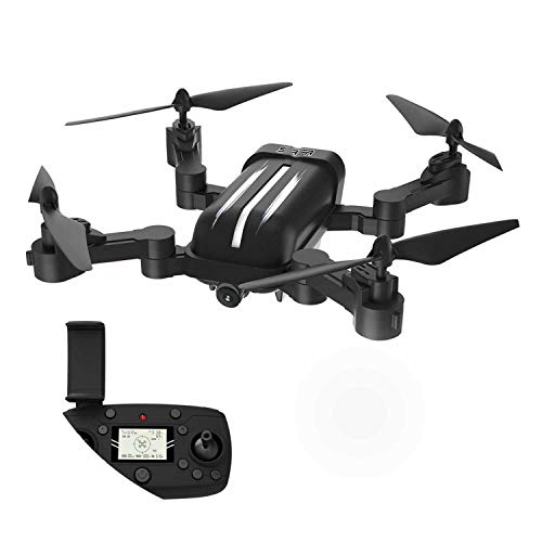 smission 2.4G WiFi FPV Aircraft 5G 1080P HD 200M Transmission Tap to Fly,Black ()