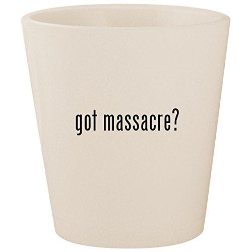 got massacre? - White Ceramic 1.5oz Shot - Shore Dvd Jersey Massacre