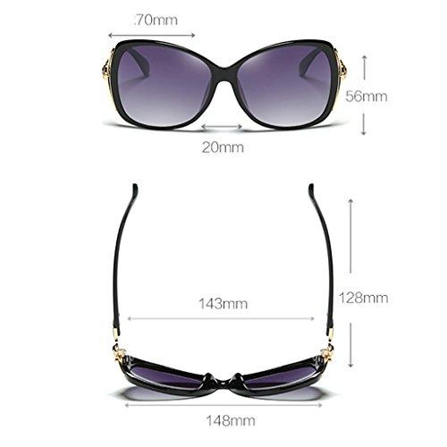 Calle sol polarizadas de Mujer Color UV400 Gafas Elegante Moda Brown Wayfarer Retro Vino de rojo la 70mm Clásico B5XxqEEwn