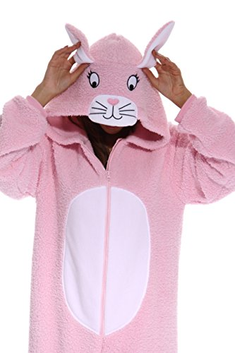 Just Love Adult Onesie / Pajamas - Large - Pink Bunny