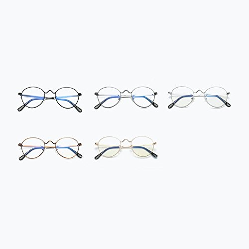 de Verres en Lunettes anti à Pas force monture rondes métal Black Hzjundasi bleus neutre ronde wxSqBT8pxP