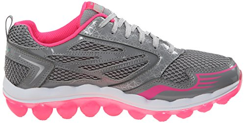 Skechers Kids Skech Air Clear Day Athletic Sneaker, Grau / Pink