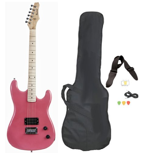 Davison Guitars GTR235XCSEPINK Electric Guitar with Case Strap Pics & Pitchpipe Tuner, Pink by Davison Guitars (Image #6)