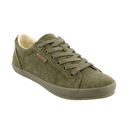 - Taos Footwear Women's Star Olive/Olive Sneaker 7 M US