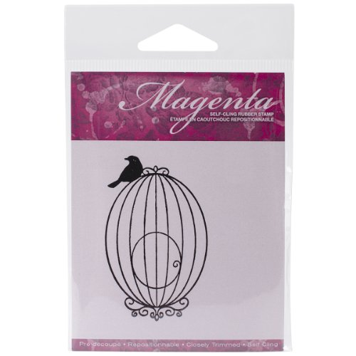 Magenta Cling Stamps, 2.75 by 2-Inch, Small Bird ()