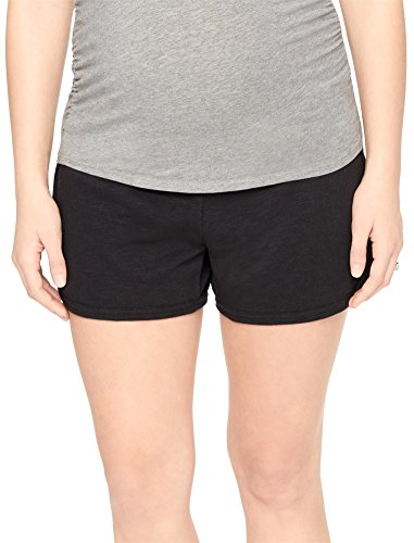 Spandex Terry Shorts (Motherhood Maternity Women's Maternity French Terry Underbelly Short, Black, Medium)
