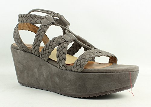 Trask Women's Patrice Gray Kid Suede Sandal 10 M - Kid Suede Womens Sandals