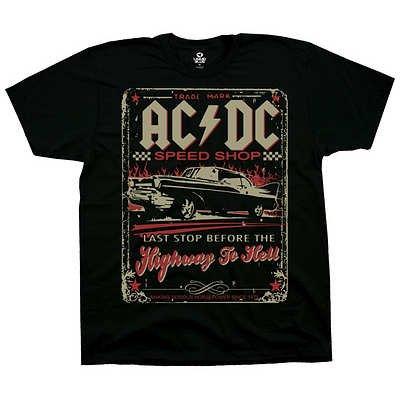T-Shirt - AC/DC - AC/DC Speedshop Men's Black Size XL ()