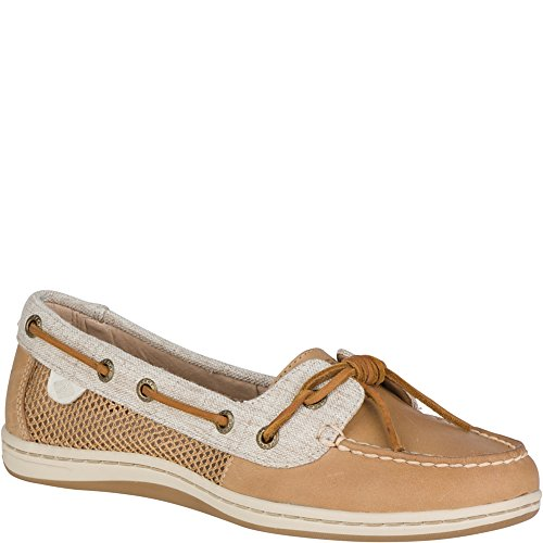 Sider Sperry Tie Top Leather (Sperry Top-Sider Women's Barrelfish Boat Shoe, Linen - 10 B(M) US)