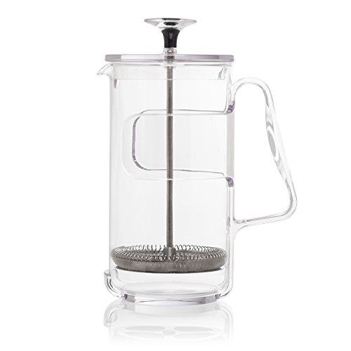 - Guzzini My Kitchen Coffee/Tea Press, 8 Cup, 9-Inches, Clear Plastic Glass