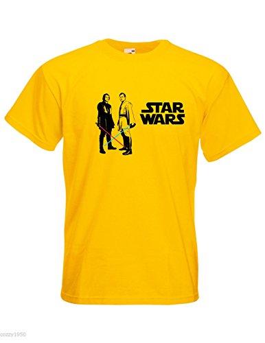 Wan Star Kenobi Décalque Laser Cadeau Modèle Sabre Obi Skywalker Jaune Anakin shirt Wars amp; Gratuit T Hommes Avec Découpé T8qOHw0nt