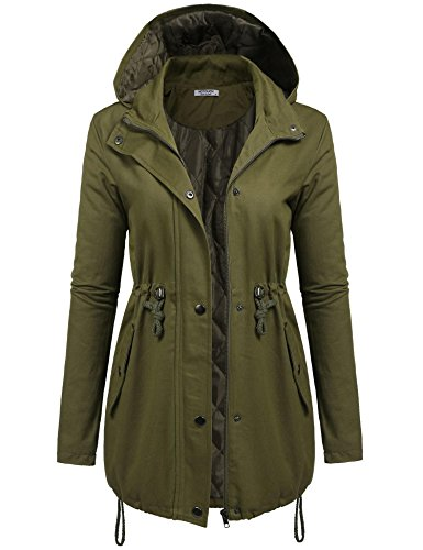 Mountain Anorak - Hotouch Women's Mountain Waterproof Fleece Ski Jacket Windproof Rain Jacket Army Green XXL