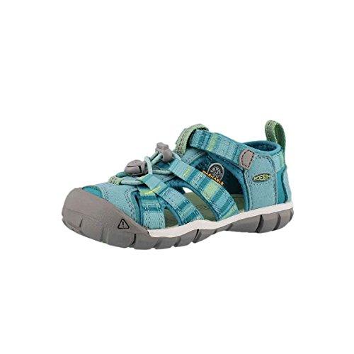 KEEN Unisex-Kids Seacamp II CNX Sandal, Pastel Turquoise Raya, 13 M US Little Kid
