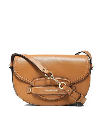 (MICHAEL Michael Kors Women's Cary Medium Leather Saddle Bag One Size Brown)