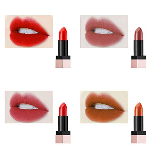 With Memories-PROFESSIONAL MAKEUP Lipstick Matte | Vivid Velvet Matte lipstick for Womenwith Vitamin E andHyaluronic Acid (Set A)