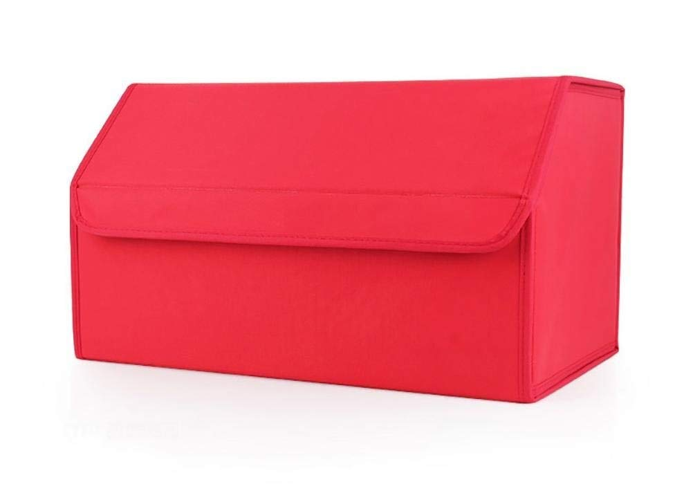 BAOYUANWANG Arge Capacity Luggage Folding Storage Bag for Car/SUV Truck Keep The seat Clean (Color : Red, Size : 483028cm)