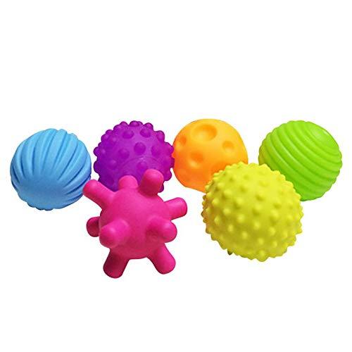 【特価】 GonPi ベビー トイボール - 4-6個 マルチボールセット 赤ちゃんの触覚を育むおもちゃ ベビー 6個 タッチ ハンドボール タッチ おもちゃ ベビー トレーニングボール マッサージ ソフトボール 6個 B07P2YL3KP, 悠遊ショップ:776e4e96 --- fenixevent.ee