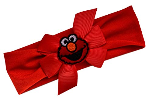 Elmo Bow Baby Headband Fits Newborn to 9 Months]()