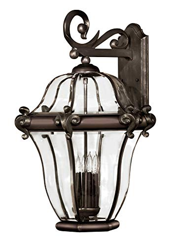 (Hinkley 2446CB Traditional Four Light Wall Mount from San Clemente collection in Copperfinish,)