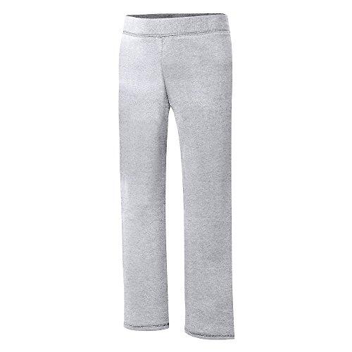Girls Open Bottom Sweatpant - Hanes Girls ComfortSoft EcoSmart Open Bottom Fleece Sweatpant