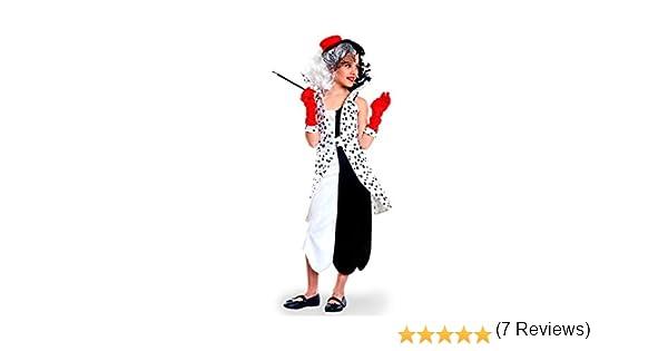 Disfraz de Villana Dálmata para niña: Amazon.es: Juguetes y juegos